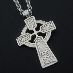 Sterling Silver Celtic Cross save 20% by celticicejewellery
