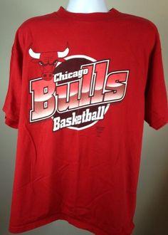 Vtg 1986 Chicago Bulls Big Logo 7 T Shirt NBA Hip Hop Jordan Era   eBay