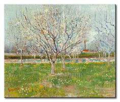 MU_VG2057 t_Van Gogh _ Orchard in Blossom (Plum Trees) / Cuadro Arte Famoso, Huerta Florecida