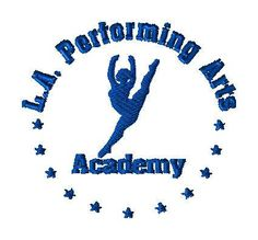 LA Performing Arts Logo - custom logo for JT - custom embroidery design by LLHembroidery on Etsy