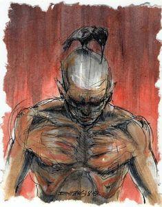 Derek Hess Derek Hess, Good And Evil, Art Model, Pose Reference, Figure Drawing, Dark Art, Tattoo, Drawings, Illustration