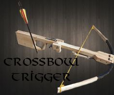 Simple Crossbow Trigger Mechanism: This is a simple guide on how to build to effective and simple crossbow trigger. Homemade Crossbow, Diy Crossbow, Homemade Weapons, Crossbow Arrows, Survival Weapons, Survival Skills, Zombie Weapons, Weapons Guns, Survival Prepping