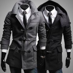 Men's Coat with Removable Hood #coats #menstyle