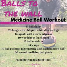 medicine ball is a simple workout tool especially since it's an easy way to add core stabilization and extra resistance.The medicine ball is a simple workout tool especially since it's an easy way to add core stabilization and extra resistance. Plyo Workouts, Best Kettlebell Exercises, Lower Ab Workouts, Easy Workouts, Workout Exercises, Fitness Exercises, Strength Workout, Strength Training, Training Tips