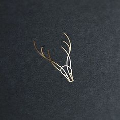 Deer Mark by Brad Harrell @bradharrellart - LEARN LOGO DESIGN @learnlogodesign @learnlogodesign - Want to be featured next? Follow us and tag #logoinspirations in your post