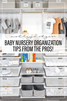 7 BABY NURSERY ORGANIZATION IDEAS EVERY NEW MOM SHOULD FOLLOW
