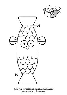Free Crafts by Bart Aalbers Summer Camp Crafts, Camping Crafts, Craft Activities, Preschool Crafts, Sea Crafts, Paper Crafts, Art For Kids, Crafts For Kids, Spring Coloring Pages