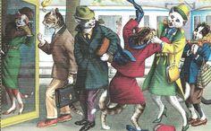 Cartão Postal Alfred Mainzer # 4734-Cabine Telefônica Luta in Colecionáveis, Cartões postais, Animais   eBay