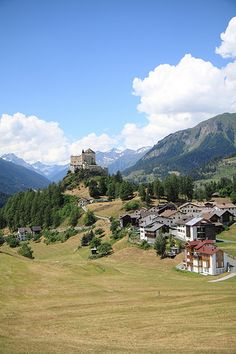 Mountain Village of Tarasp, Graubünden, Switzerland