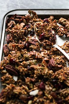 Chucky Spiced Buckwheat Granola (Paleo, Vegan, Gluten free) - Healthy 'n Happy