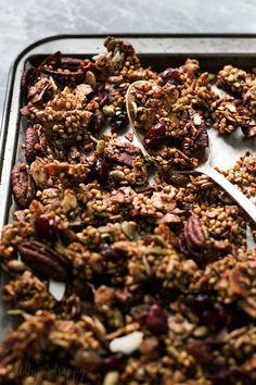 Chucky Spiced Buckwheat Granola (Paleo, Vegan, Gluten free) - Healthy 'n Happy