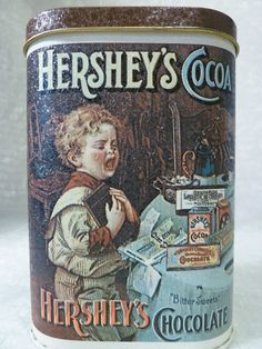 Collectible Metal Tin Hershey's Chocolate Tin 1984 Turn of the Century Images