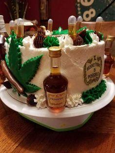 Hennessey cake F O O D Drinks Pinterest Cake Birthdays and