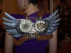 Steampunk Wings.  Aww, now *these* are cute little steampunk wings. Manageable & NOT ridiculous!