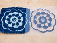 DIY: cyanotype print on handknits and crochet