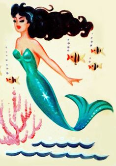 ✯..Meyercord Mermaid decal c. 1950's..✯