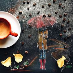 """""""Some people feel the rain. Others just get wet. """" #littlecoffeestories Good Sunday everyone, wherever you are."""