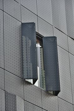 Perforated Metal - Facade Cladding - Punching and Deep Drawing Facade Architecture, Concept Architecture, Beautiful Architecture, Wall Section Detail, Deep Drawing, Modern House Facades, Mix Use Building, Expanded Metal, Perforated Metal