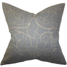 The Pillow Collection Eames Floral Pillow   AllModern