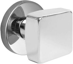 Contemporary Door Handles   Shown in Polished Chrome finish with Disk rosette)