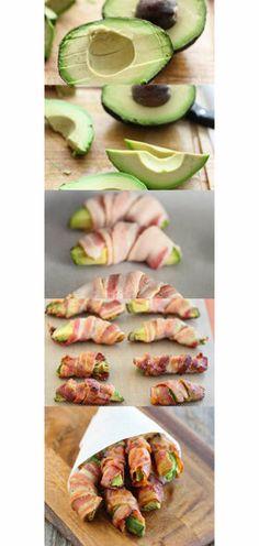 Avocado Bacon Wraps