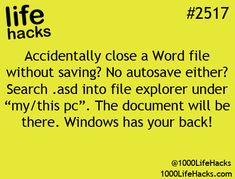 #document #windows #chance #wonder #didnt #photo #hacks #work #this #life #save #your #word #your #backPhoto (1000 Life Hacks) Wonder if this work didn't get a chance to save your word document Windows got your backWonder if this work didn't get a chance to save your word document Windows got your back