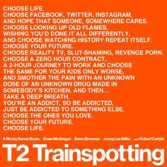 T2: Trainspotting - Danny Boyle :: Que belo diretor que Danny Boyle é! Boas doses de nostalgia sem parecer empoeirado. E Sick Boy continua uma maravilha, apesar de não falar mais de 007. <3