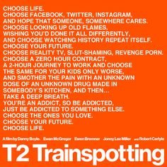 Trainspotting 2 out January 27th 2017.
