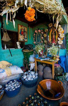 artisan's home,  Michoacan, Mexico