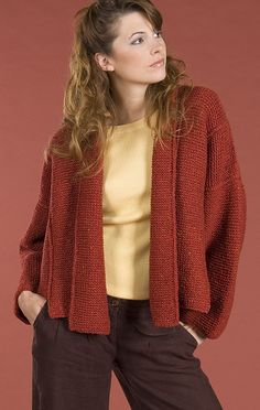 Free Knitting Pattern - Women's Jackets & Outerwear: Panel Jacket