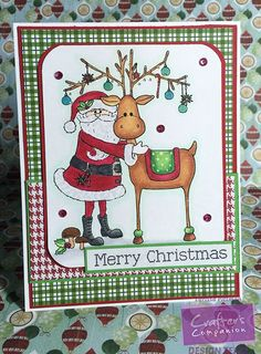 Today I used a Crafter's Companion EZMount Stamp set for my card. I colored the image using Spectrum Noir Markers: I used pattern paper from Pebbles Welcome Christmas paper pad with Real Red and Cucumber … Nordic Christmas, Christmas Cards, Merry Christmas, Spectrum Noir Markers, Crafters Companion, Winter Cards, Xmas Decorations, Pattern Paper, I Card