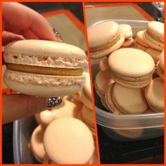 This is the best recipe I've found so far.  Beautiful, not too sweet shells, but no buttercream recipe.  Love and Macarons.: Macaron Recipe (Italian Meringue Method)