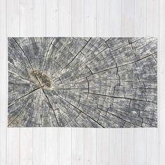 Wood Area Rug 4'x6' area rug brown area rug natural