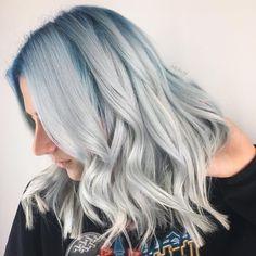Moody blue and grey hair
