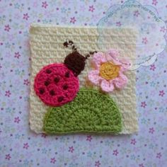 Ladybird and Love Squares – Free Crochet Pattern