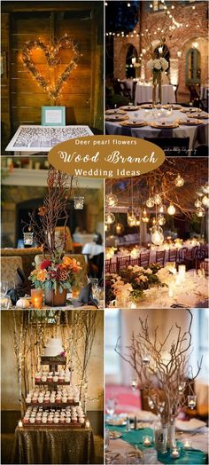 Rustic wood branches wedding ideas / http://www.deerpearlflowers.com/rustic-woodsy-wedding-decor-ideas/ #rusticwedding #countrywedding #weddingdecor