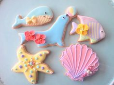sea animal & shell cookies♡