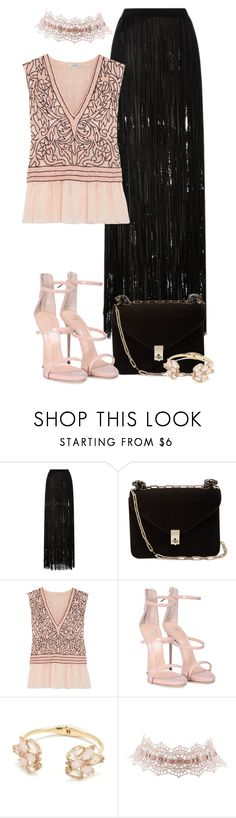 """""""Leather"""" by tlb0318 on Polyvore featuring Elie Saab, Valentino, Ganni, Giuseppe Zanotti, Kate Spade and Charlotte Russe"""