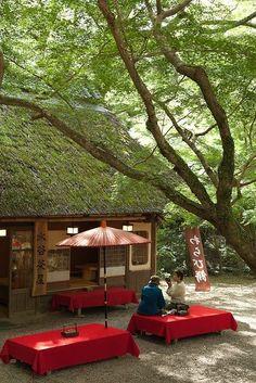 Japanese tea house in Nara, Japan