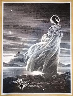 "2015 ""The Bride of Frankenstein"" - Silkscreen Movie Poster by Nicolas Delort"