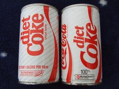 1980s diet coke can | New Zealand 1980's diet Coke cans.