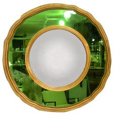Emerald Mirror with Bull's Eye Center -- this would be a show-stopper above a mantel Eye Center, Green Home Decor, My Birthstone, Color Of The Year, Pantone Color, Accent Colors, Shades Of Green, Green Eyes, Emerald Green