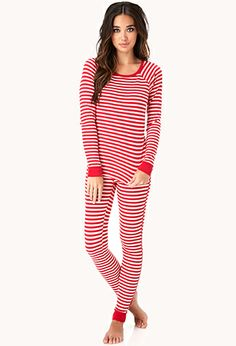 Classic Striped PJ Set | FOREVER 21-- I totally want these gonna print it off and put it on my list we have up in my kitchen for Brett to see :)