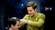 This makes my heart happy... Chris fixing Anton's hair ... gif Tumblr