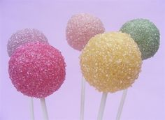 Popular treats sanding sugar cake pops with matching choc-coating colour. Natural colours