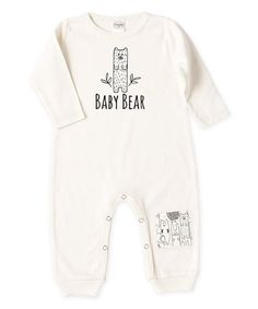 Another great find on #zulily! Ivory 'Baby Bear' Patch Playsuit - Infant #zulilyfinds