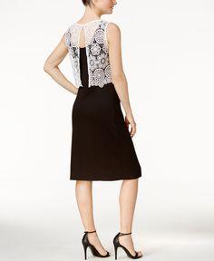 kensie Crochet-Popover Sheath Dress