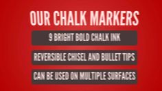 Benefits And Features Of Using Chalk'd Liquid Chalk Markers