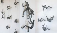 Little Wire People Climbing Everywhere - My Modern Met