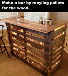 Great way to make a cheap bar!